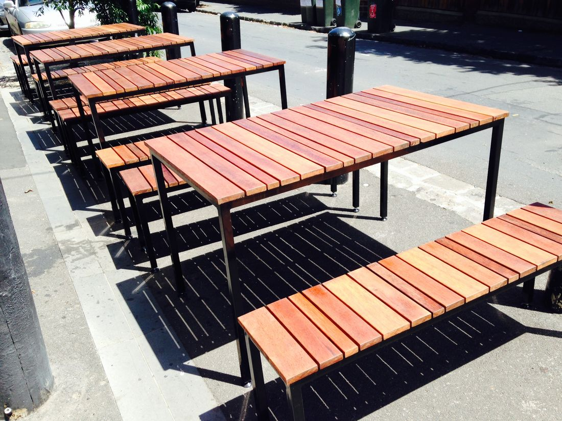 Merbau Outdoor Bench Seats